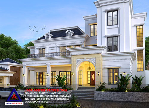 Jasa Arsitek Desain Gambar Villa Tropis Mewah Di Lembang Bandung