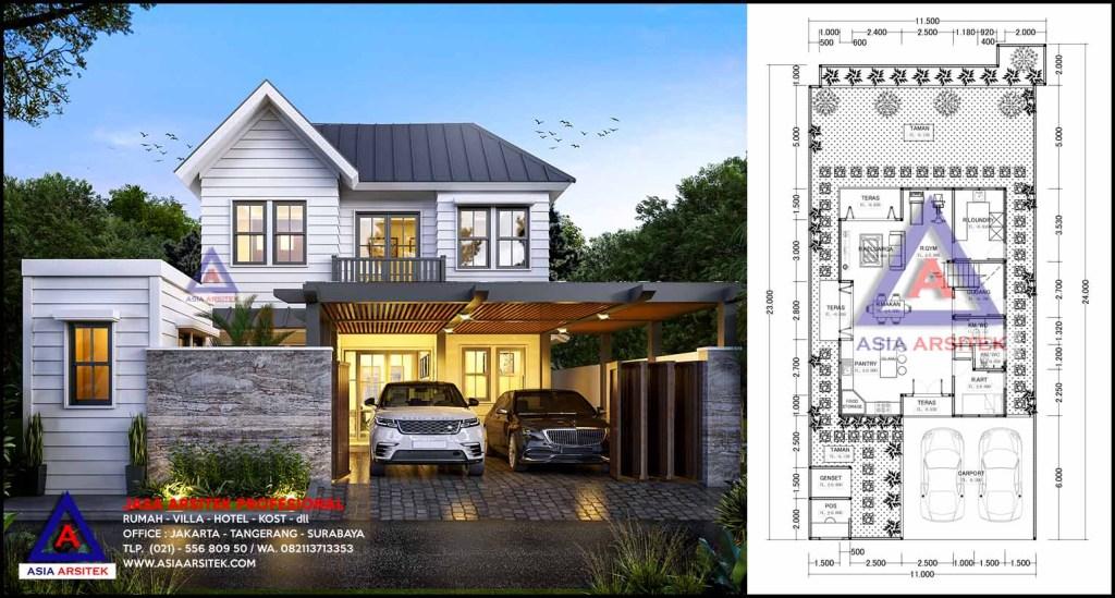 Jasa Arsitek Desain Rumah Farmhouse Di Kebayoran Baru Jakarta Selatan