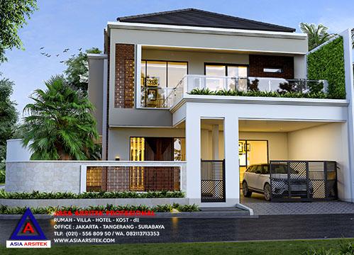 Jasa Arsitek Desain Rumah Minimalis Hook 2 Lantai Di Kota Tangerang