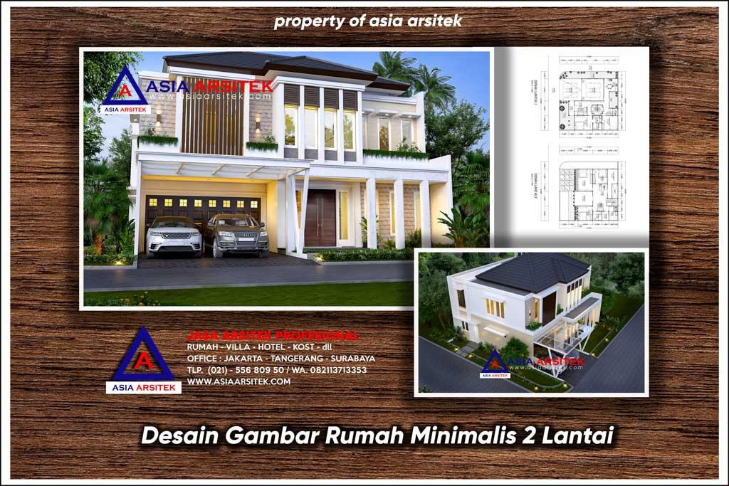 Desain Gambar Rumah Minimalis 2 Lantai Ukuran Lahan 16x15 9 Meter