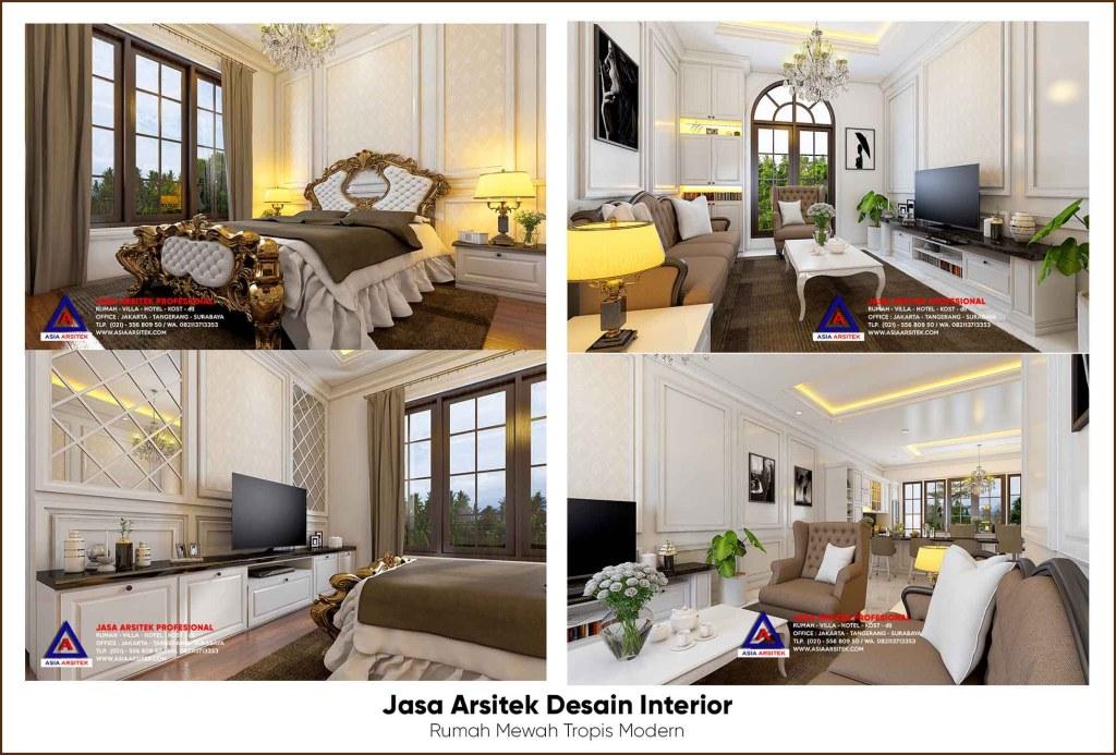 Jasa Arsitek Desain Interior Rumah Mewah Tropis Modern 3 Lantai Di Kota Bogor Jawa Barat