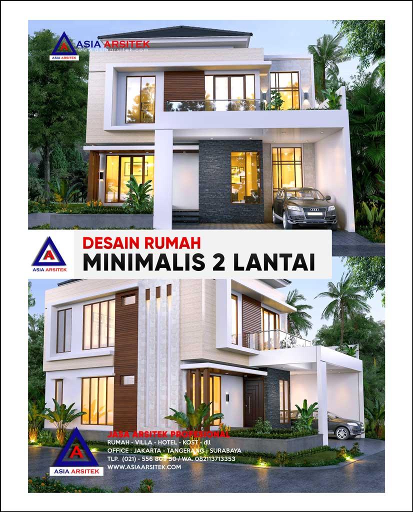Desain Rumah Minimalis 2 Lantai di Lahan 15 x 11,5 meter di Tangerang