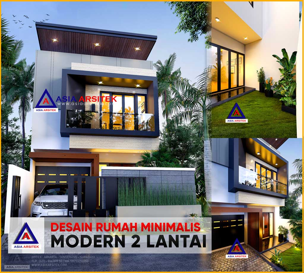 Desain Rumah Minimalis Modern 2 Lantai Di Lahan 23x6 6 Meter
