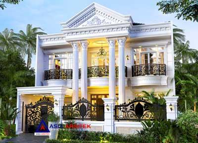 Jasa Arsitek Desain Rumah Classic 2 Lantai di Kebayoran Lama Jakarta Selatan