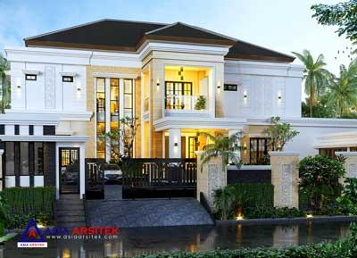 Jasa Arsitek Desain Rumah Mewah Tropis Modern di Kembangan Jakarta Barat