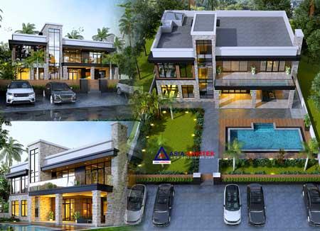 Jasa Arsitek Desain Villa Style Tropis Modern di Bandung Jawa Barat