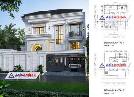 Jasa Arsitek Desain Rumah Tropis 2 Lantai Mewah di Cempaka Putih Jakarta Pusat