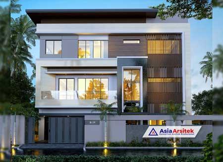 Jasa Arsitek Desain Rumah dan Gudang 4 Lantai Minimalis Kontemporer di Joglo Kembangan Jakarta Barat
