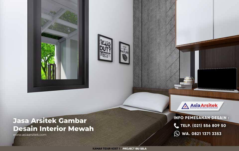 Jasa Arsitek Desain Interior Kost Kosan Minimalis Ibu Sela di Grogol Jakarta Barat