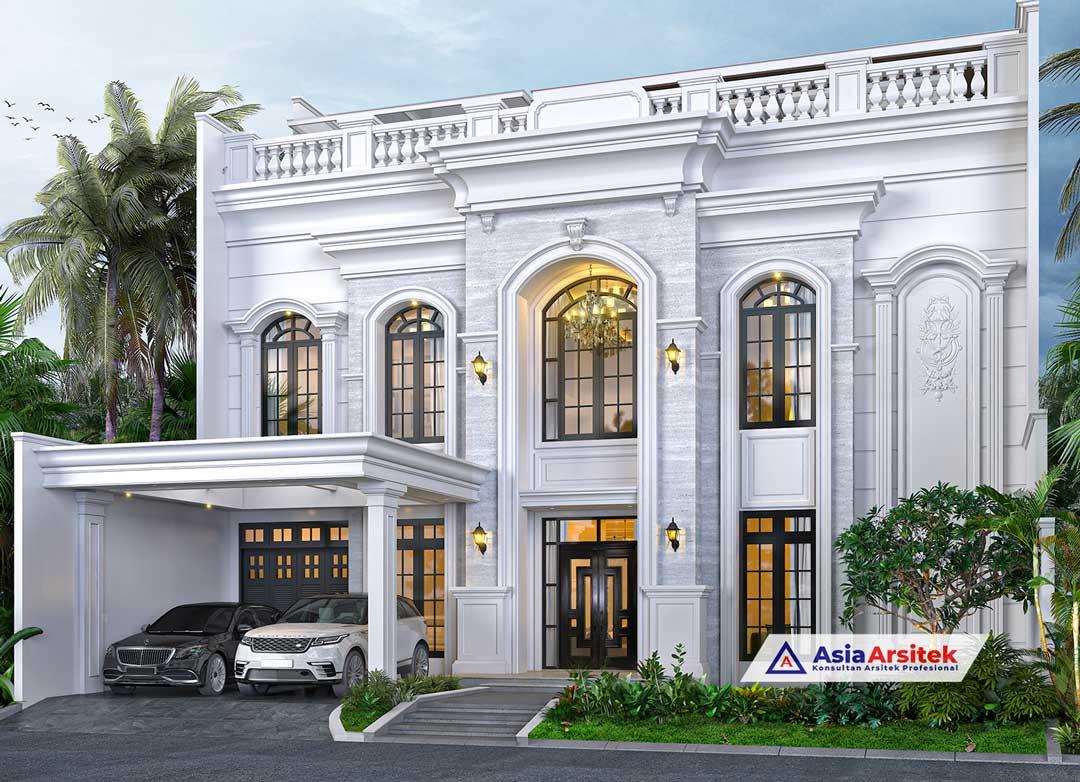 Jasa Arsitek Desain Rumah Mediterania 3 Lantai di The Green BSD Tangerang Selatan