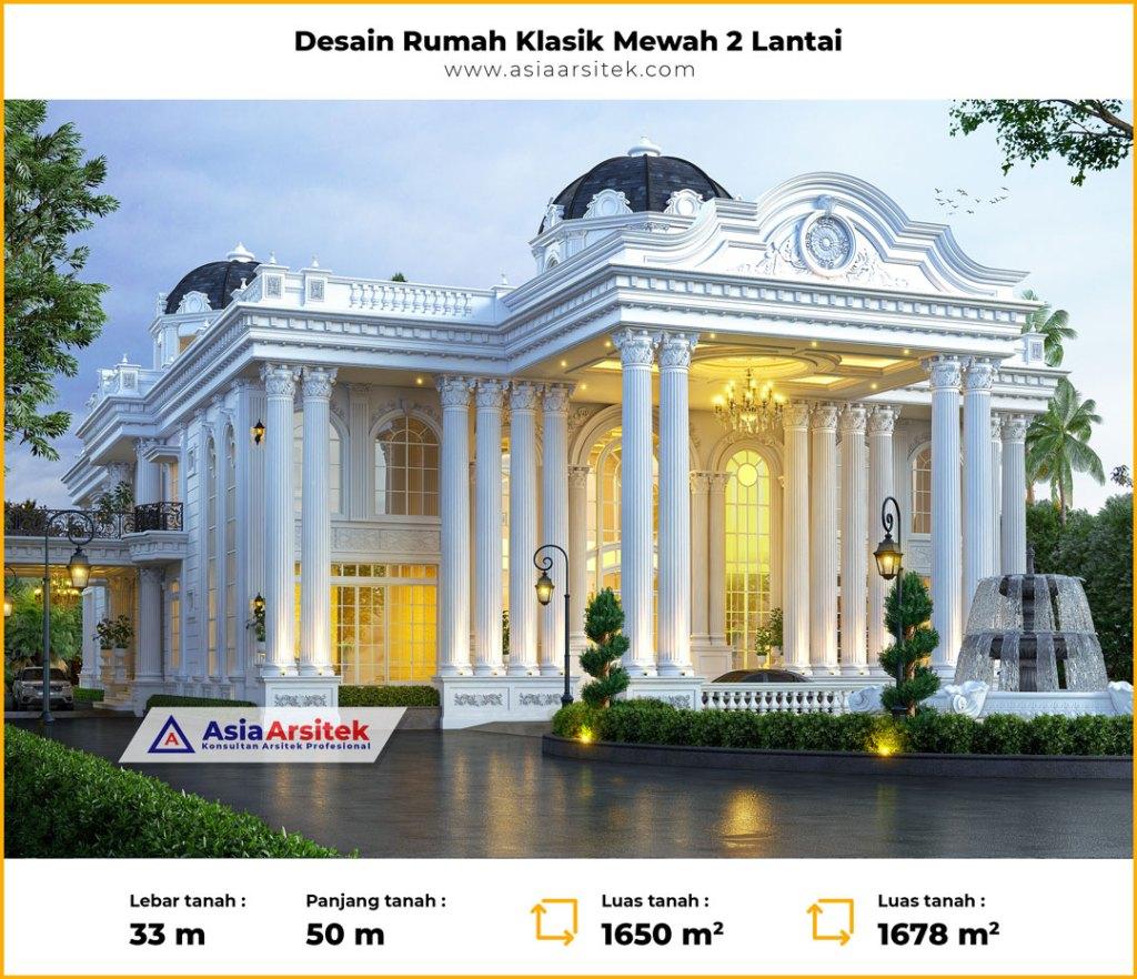 WOWW Desain Rumah Klasik Mewah 2 Lantai