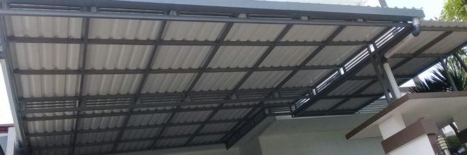 harga kanopi baja ringan atap spandek asia bengkel las