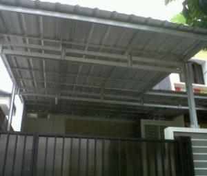 model kanopi atap baja ringan asbes asia bengkel las