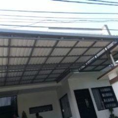 Model Rangka Baja Ringan Kanopi Atap Spandek Asia Bengkel Las