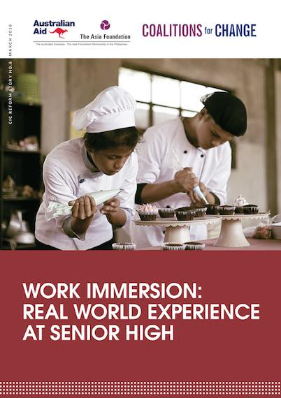 Work Immersion Real World Experience at Senior High  The