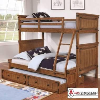 Tempat Tidur Susun Sorong Kayu Jati