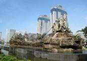 Arjuna Wijaya Chariot Statue, Indonesia