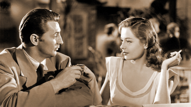 Richard Mitchum and Jane Greer in Out of the Past, circa 1947