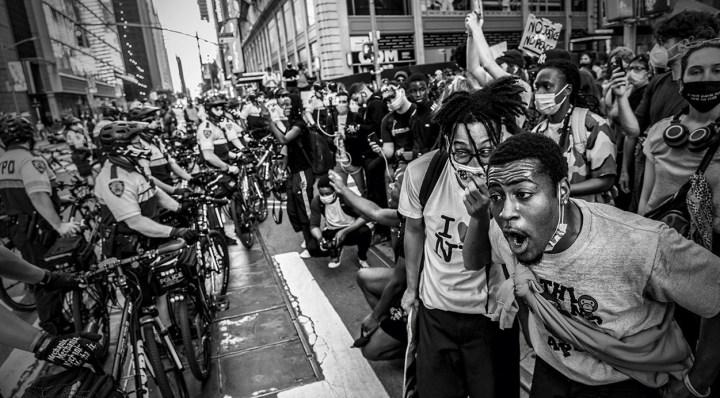 protestors vs. police