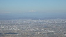 Nagoya sprawl with Mount Fuji in the distance!