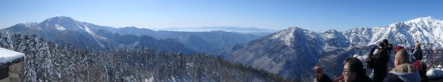 gorgeous views from top of ropeway