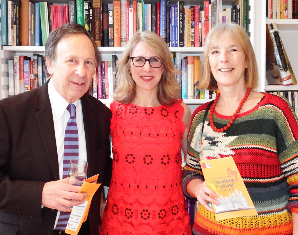 With Jeremy Robson of Robson Press and Chinese-English translator Nicky Harman