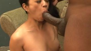 Milf Filipina-American sucks black meat