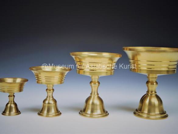 Tibetanische Öllampe   Ghee Lampe aus Messing