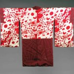 Woman's short jacket and decorative lining with design of Japanese national and military Flags, circa 1940, Japanese, printed silk, 37 x 48 3/4 inches, Saint Louis Art Museum