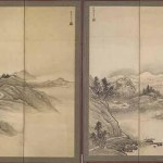 Landscape screen by Sesshu Toyo, 1420-1506, ink and colour on paper, Muromachi period (1333-1573), 15th/16th century, Japan. Courtesy of Freer Gallery of Art and Arthur M. Sackler Gallery