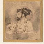 Shah Jahan and His Son, about 1656 by Rembrandt Harmenszoon van Rijn (Dutch, 1606 - 1669), brown ink on paper, unframed: 6.9 x 7.1 cm. Credit: Rijksmuseum, Amsterdam