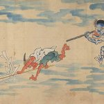 Detail from The Night Parade of One Hundred Demons, detail, handscroll, Edo period, 19th century, Miyoshi City Collection