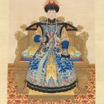 Empress Dowager Chongqing at the Age of Seventy. Probably Giuseppe Castiglione (Lang Shining; Italy, 1688–1766) and other court painters, Beijing, Qianlong period, about 1761, hanging scroll, ink and colour on silk, Palace Museum © The Palace Museum