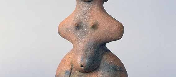 Tanabatake Venus, terracotta, Middle Jomon, height 27 cm, Nagano Prefecture, Chino City Togariishi Museum of Jomon Archaeology. National Treasure