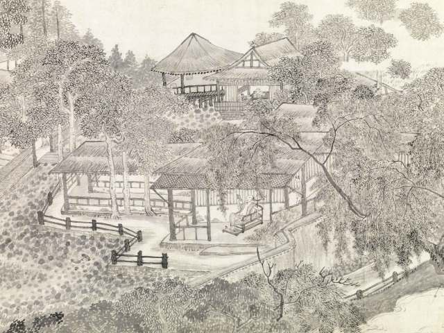 whiling-away-summer chinese painting