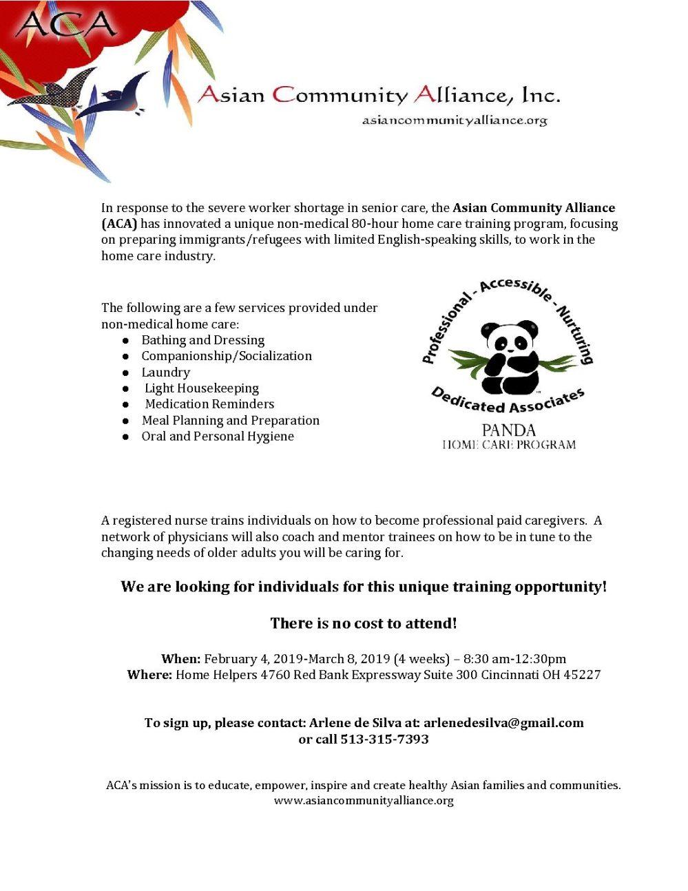 medium resolution of aca panda home care program