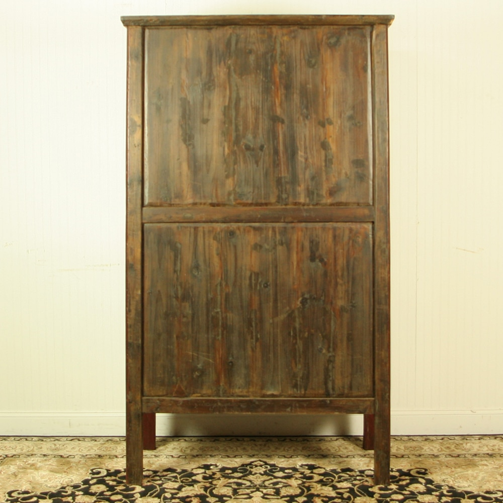 Antique Red Kitchen Cabinets: Antique Chinese Red Brown Noodle Cabinet Wedding Wardrobe