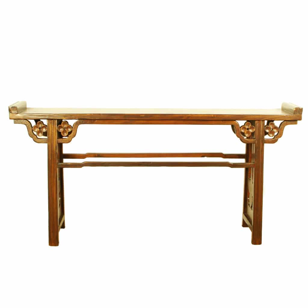 long tall sofa tables outdoor wooden uk asian 77 inch altar console table 13 quot deep by