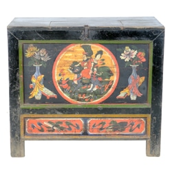 Antique Mongolian 37 inch Wide Cabinet