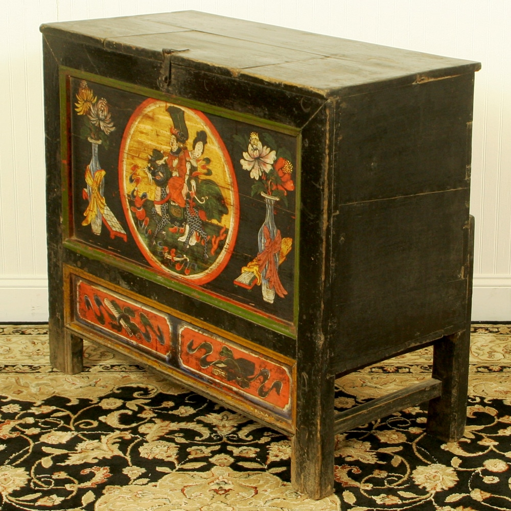 - Antique Chinese 37 Inch Wide Cabinet Chest