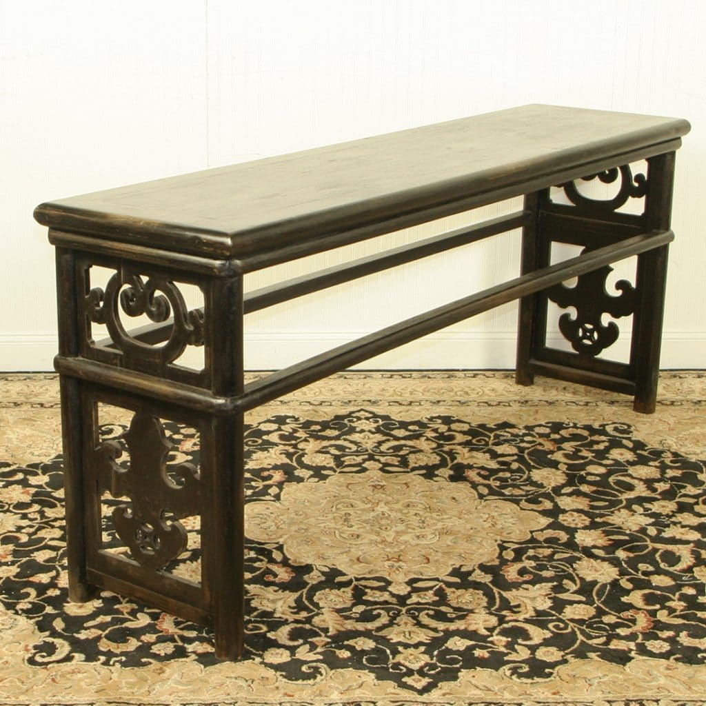 black lacquer sofa table leather sets cheap chinese 79 inch long
