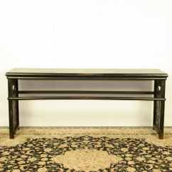 Black Lacquer Sofa Table Gus Reviews Chinese 79 Inch Long