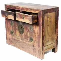 45 inch Wide Antique Chinese Asian 2 Door Cabinet