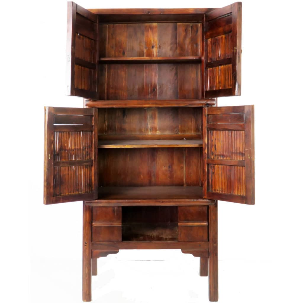 Antique Chinese Bamboo cabinet 76 inch tall - Antique Chinese Bamboo Cabinet 76 Inch Tall. Ming Style Unique