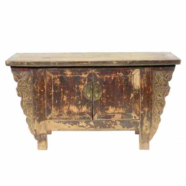 Antique Chinese 41 inch Kang Table Cabinet