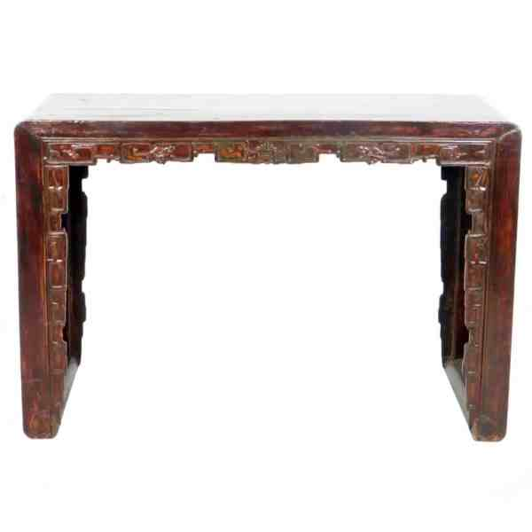 Antique Chinese 50 inch Wide Scroll Foot Altar table Desk