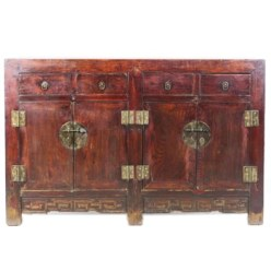 Antique Chinese Sideboard Buffet Cabinet 53 inch long