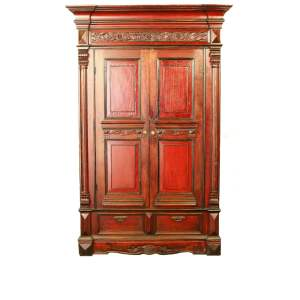 Antique Asian Tall Wardrobe Wedding Storage Cabinets