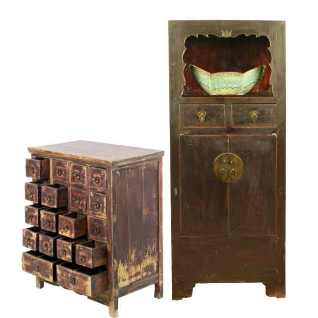 Antique Chinese Apothecary and Display Cabinets - Antique Chinese Furniture Cabinets Tables Accessories