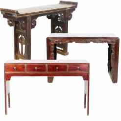 "Antique Asian Chinese Small Tables (up to 54"" Long)"